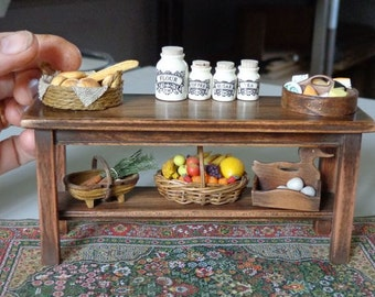 TO ORDER...Doll House Miniatures Artisan Victorian / Vintage Style Buffet Table.