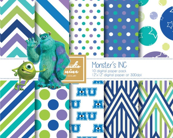 monsters inc paper
