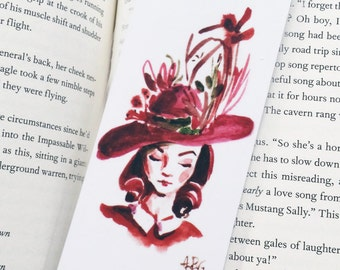 Missus Red Bookmark- Handmade
