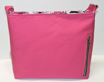 Fuschia Canvas Conceal Carry Purse/Handbag/Tote/CCW