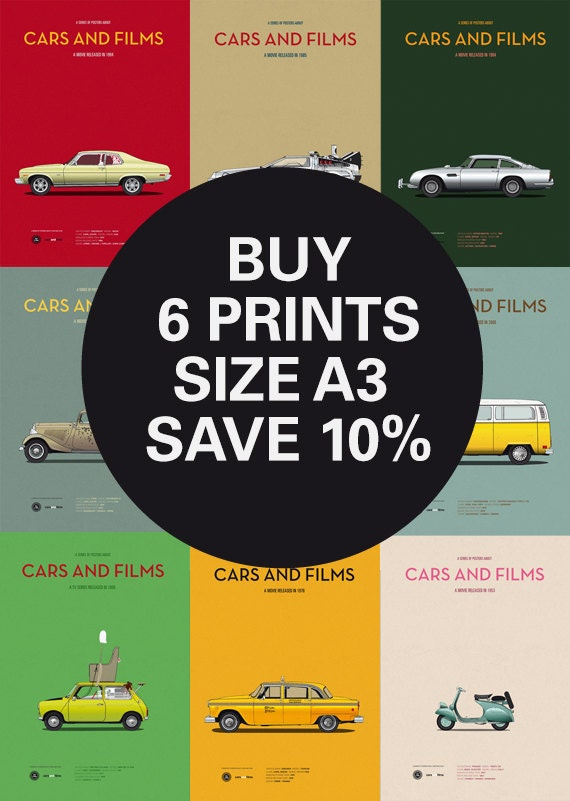 Discount set movie posters any 6 prints a3 save 10 for Print posters online cheap
