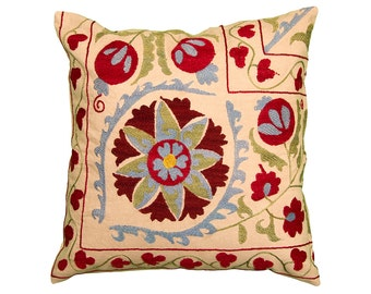 Cushion Cover - VINTAGE SUZANI DESIGN 13 - 45 x 45