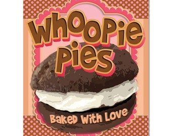 Whoopie Pies Baked with Love Kitchen Metal Sign - #35085
