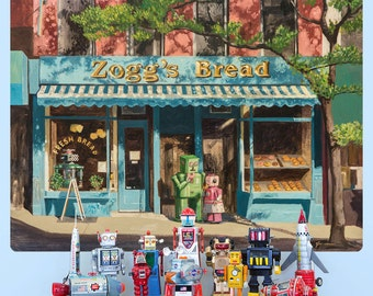 Robots At Zoggs Bread Bakery Envy Wall Decal - #59554