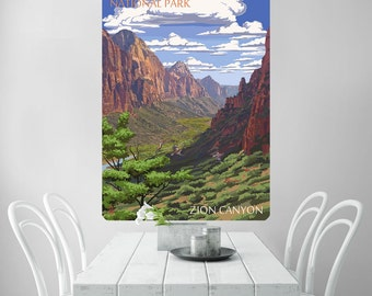 Zion Canyon National Park Wall Decal - #60944