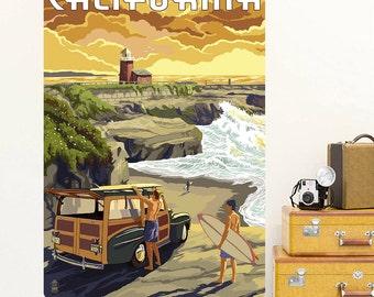 Coastal California Surfing Trip Wall Decal - #60894