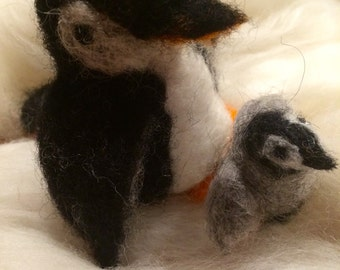 penguins in carded wool.