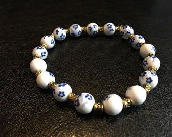 Porcelain Beaded Bracelet