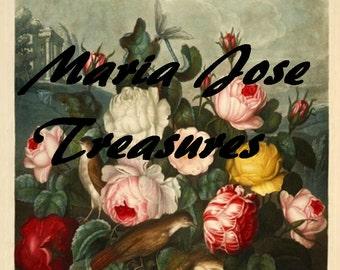 "Vintage Flowers 2 ""Temple of Flora"" - Digital Download"