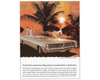 Vintage newspaper advertisement for a 1964 Pontiac Bonneville - 22