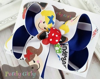 Kindergarten Hairbow School Bow Uniform Medium ABC