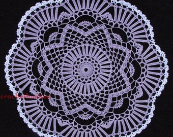 Orchid Petals Crocheted Doily