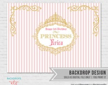 ON SALE! Pink and Gold Backdrop // Princess Backdrop // Dessert Table Backdrop // Princess Pink Gold