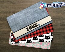 Personalized Dog Placemat - Dog Mat - Pet Food Mat - Fabric Placemat - Rubber Placemat