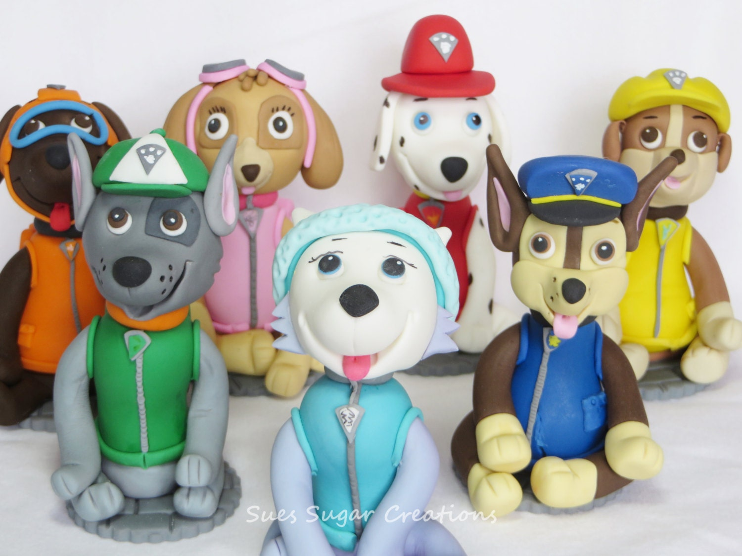 Kids Toys Action Figure: Paw Patrol Fondant Dog Toppers