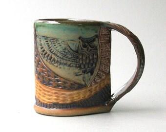 Owl Mug - Hand-built Stoneware