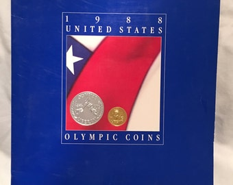 1988 United States Olympic Coins Press Kit (includes slide)