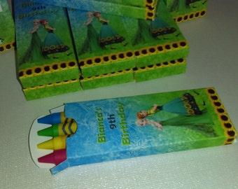 Frozen Fever Crayon Favor ( SKU#: FFCB01 )