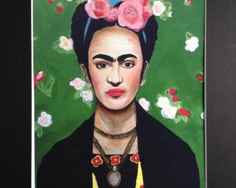 SALE: Frida Kahlo Print, Frida Painting Giclee, Includes Matte, Colorful Artwork!