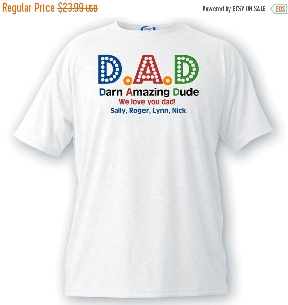personalized father 39 s day t shirt gifts for dad dad t
