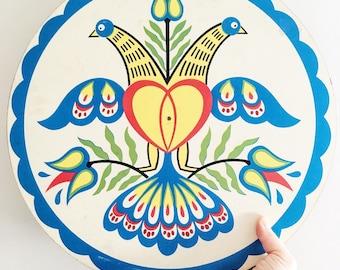 Vintage folk art bird sign/wall hanging/plaque