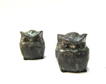Small bronze sculpture of greek owl