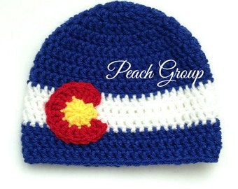 COLORADO FLAG hat. Colorado hat. Colorado State Hat. Free U.S.A Shipping. MENS hat. Womens Hat. Childrens hat. Newborn Hat.