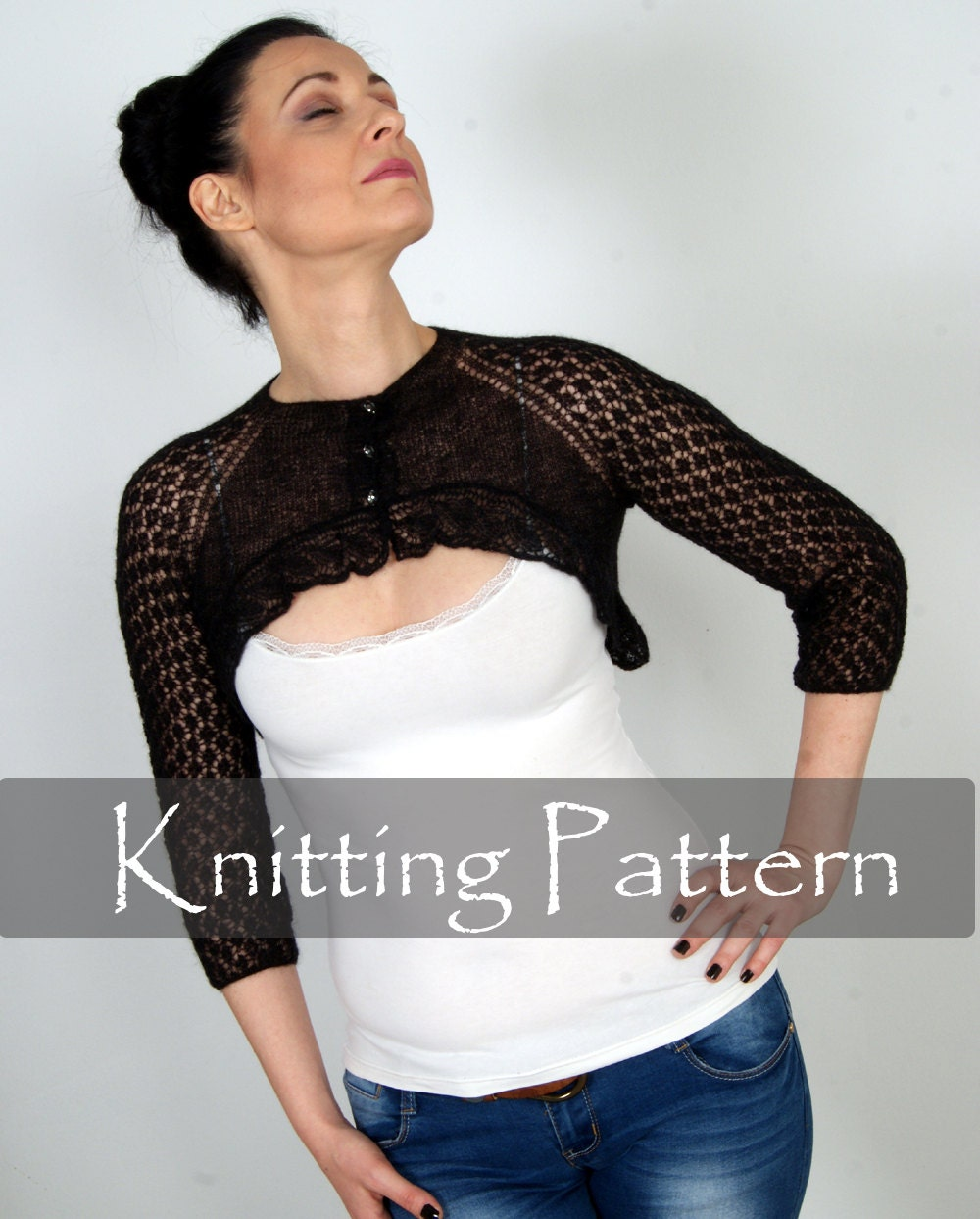 Knitting Pattern Lace Bolero