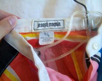 "1960s striped dress by Joseph Magnin, 34"" chest"