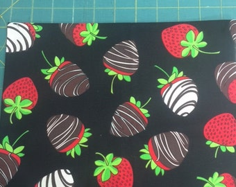 Cotton Fabric, Strawberry,  fat quarter