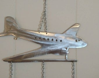 DC-3 Airplane Wind Chime