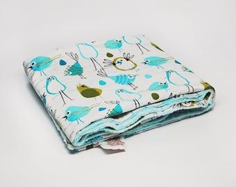 Blue Baby Blanket, Minky Baby Blanket, Mink Baby Blanket in Blue