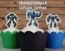 DOWNLOADABLE Transformers Cupcake Cake Toppers Birthday DIGITAL DOWNLOAD