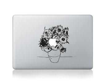 Van Gogh Sunflowers Vinyl Decal for Macbook (13/15) or Laptop