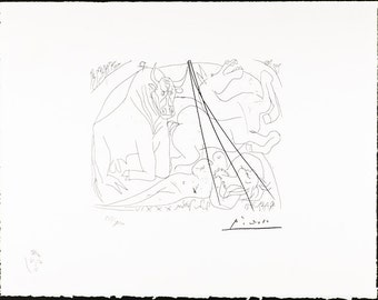 PABLO PICASSO - Vollard suite Plate 23 - mint hand numbered lithograph - c1973 (Arches paper. SPADEM, Paris)