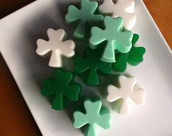 Shamrock Soap - St Patricks Day Soap, St Patricks Day Gift, Clover Soap, Irish Soap, Luck of the Irish - Set of 3