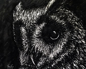 Owl Giclee Print by Fiona Tang