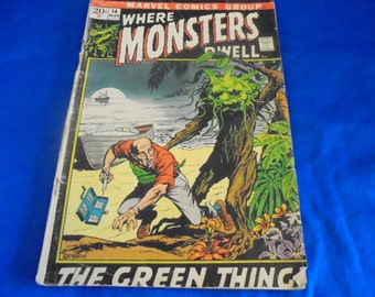 Marvel Comics WHERE MONSTERS DWELL Issue 14 The Green Thing