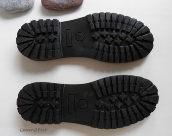 Rubber soles for felted shoes, felted boots. Shoe soles, women. TR black flexible shoe soles. Quality EU standard thermo rubber.