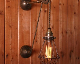 Apoch Pulley Cage wall light