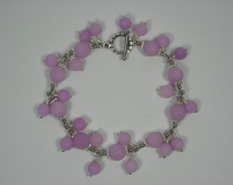 Lavender Jade Chained Bracelet with Dangles