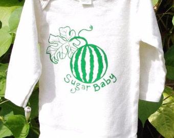SALE! Organic Sugar Baby Onesie- Cream, Long Sleeves