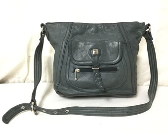 Stone Mountain leather purse,Bags purses,Green,blue,Leather bag,Leather shoulder bag