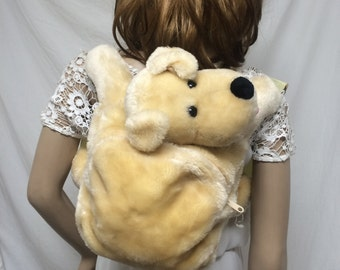 Backpack, stuffed animal,  puppy bag,dog bag, puppy backpack, dog backpack, free shipping in the US