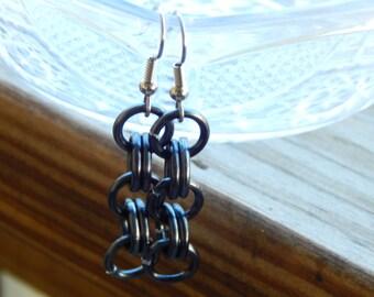 Gunmetal Chainmaille Earrings