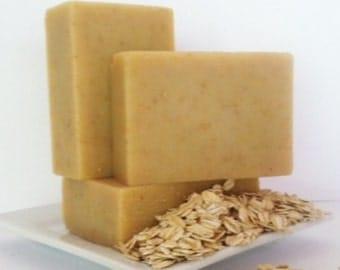 FRAGRANCE FREE OATMEAL & Honey Goat's Milk Soap