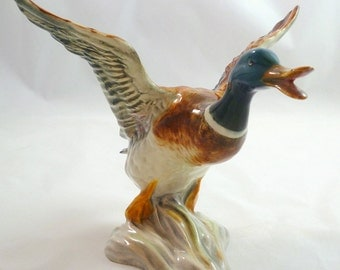 BESWICK MALLARD DUCK Rising No. 749 Beswick Mallard Duck Taking Flight No. 749 Beswick Mallard Duck With Wings Spread Mallard Duck Beswick