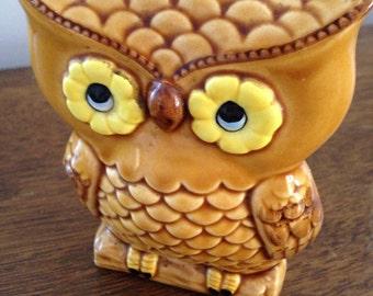 vintage owl napkin holder , japan 1970s