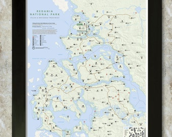 Redania Map (Witcher Series) National Park Style 16x20 Poster