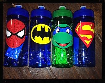 Personalized Superhero Kids Sports Water Bottle